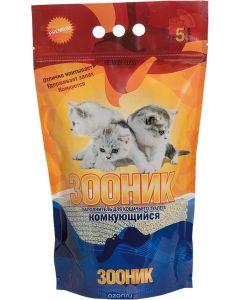 Наполнитель для кошачьего туалета Зооник, комкующийся, 5л