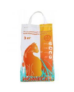 """Наполнитель для кошачьего туалета """"Homecat"""" Впитывающий, 3 кг"""