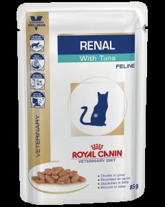Royal Canin renal c тунцом диета для взрослых кошек с хронической почечной недостаточностью