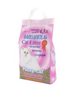 Pussy cat Наполнитель для кошачьего туалета, комкующийся 4,5л