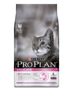 Pro Plan Корм сухой полнорационный для взрослых кошек с чувствительным пищеварением или с особыми предпочтениями, с индейкой