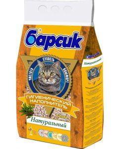 Древесный наполнитель для кошачьего туалета Барсик Натурал впитывающий без запаха 4,54 л