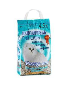 Pussy cat Наполнитель для кошачьего туалета, океанический 4,5л
