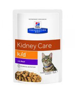 Hill's вет.консервы паучи K/D для кошек при лечении почек с говядиной, K/D Feline with Beef