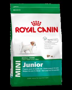 Royal Canin Полнорационный сухой корм mini junior для щенков с 2 до 10 месяцев