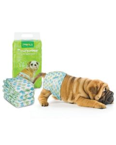 Triol DP01 Подгузник для собак XS, вес собаки 2-4 кг (цена за 1 штуку)