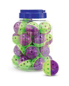 """Игрушка для кошек """"Мяч-погремушка"""", фиолетово-зеленый, d40мм (за 1 штуку)"""