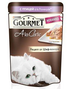 Gourmet Alcte Паучи в подливе для кошек с птицей и овощами, 85г