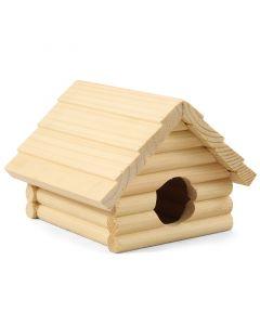 Домик для мелких животных деревянный, 135*130*95мм