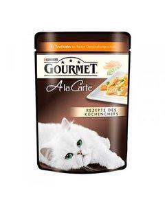 Gourmet Alcte Паучи в подливе для кошек с индейкой и овощами, 85г
