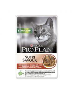 Pro Plan Nutri Savour Sterilised Beef in Gravy Влажный корм для стерилизованных кошек (говядина в соусе)