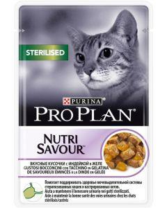 Pro Plan Nutri Savour Sterilised Turkey in Jelly Влажный корм для стерилизованных кошек (индейка в желе)