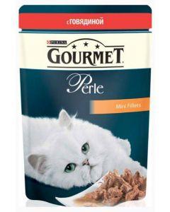 Gourmet Perle влажный корм для кошек мини-филе с говядиной, 85 г