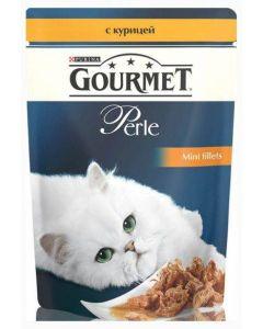 Gourmet Perle влажный корм для кошек мини-филе с курицей, 85 г