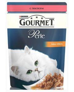 Gourmet Perle влажный корм для кошек мини-филе с лососем, 85 г