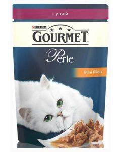 Gourmet Perle влажный корм для кошек мини-филе с уткой, 85 г