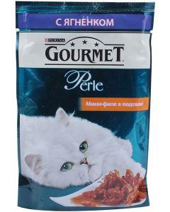 Gourmet Perle влажный корм для кошек мини-филе с ягненком, 85 г