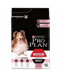 PRO PLAN dog medium adult sensitive skin сухой полнорационный корм для взрослых собак средних пород с чувствительной кожей с лососем и рисом