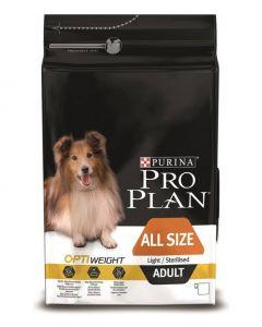 Purina pro plan для склонных к избыточному весу и/или стерилизованных взрослых собак всех пород, с курицей и рисом