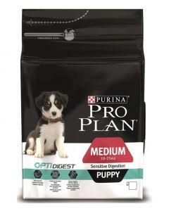 Purina pro plan сухой полнорационный корм для щенков средних пород с чувствительным пищеварением с комплексом optidigest, с ягненком и рисом