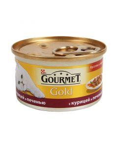 Gourmet Gold паштет для кошек с курицей и печенью, 85 г