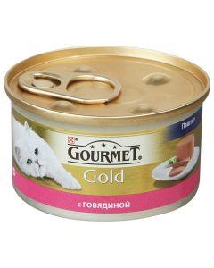 Gourmet Gold паштет для кошек с говядиной, 85 г