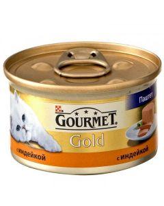 Gourmet Gold паштет для кошек с индейкой, 85 г