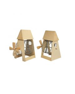 Игрушка для грызунов Мельница деревянная