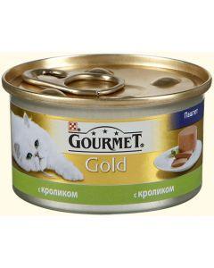 Gourmet Gold паштет для кошек с кроликом, 85 г
