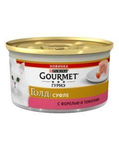 Gourmet Gold суфле для кошек с форелью и томатами, 85 г