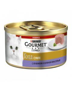 Gourmet Gold суфле для кошек с ягненком и фасолью, 85 г