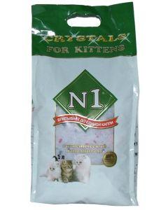 Наполнитель силикагелевый впитывающий №1 Crystals For Kittens, 5л