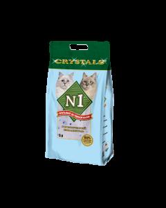 Наполнитель N1 Crystals впитывающий силикагель для кошек 5л