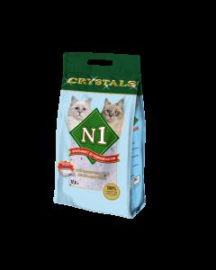 Наполнитель N1 Crystals впитывающий силикагель для кошек 12,5л