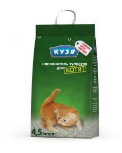 Наполнитель Кузя впитывающий для котят 4,5л