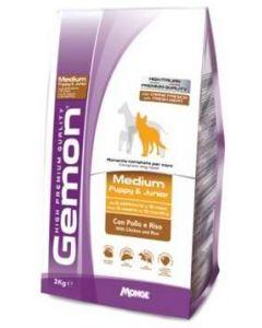 Gemon Dog Medium корм для щенков средних пород курицей с рисом