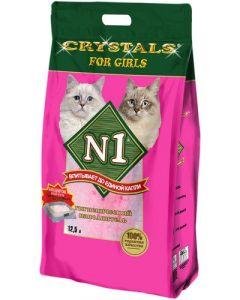 Наполнитель силикагелевый впитывающий №1 Crystals For Girls, 12,5 л