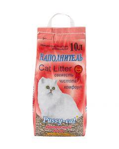 PUSSY-CAT ДРЕВЕСНЫЙ – Пусси-кэт наполнитель древесный для туалета кошек 10л