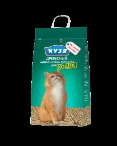Наполнитель КУЗЯ впитывающий древесный для кошек 4,5л